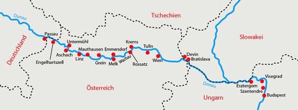 Passau to vienna map pdf