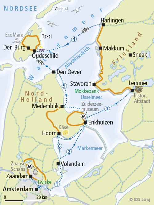Boat and bike tour The Netherlands on its Northern Route
